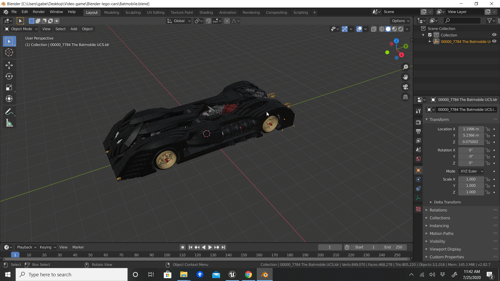 Lego Batmobile preview image