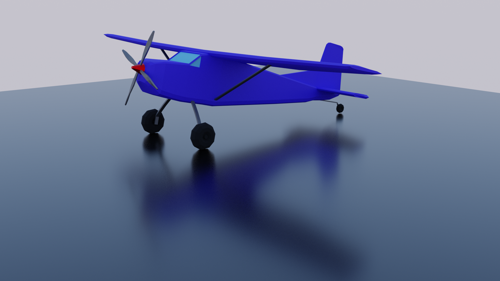 low poly bush plane preview image