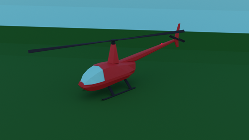 low poly helicopter preview image