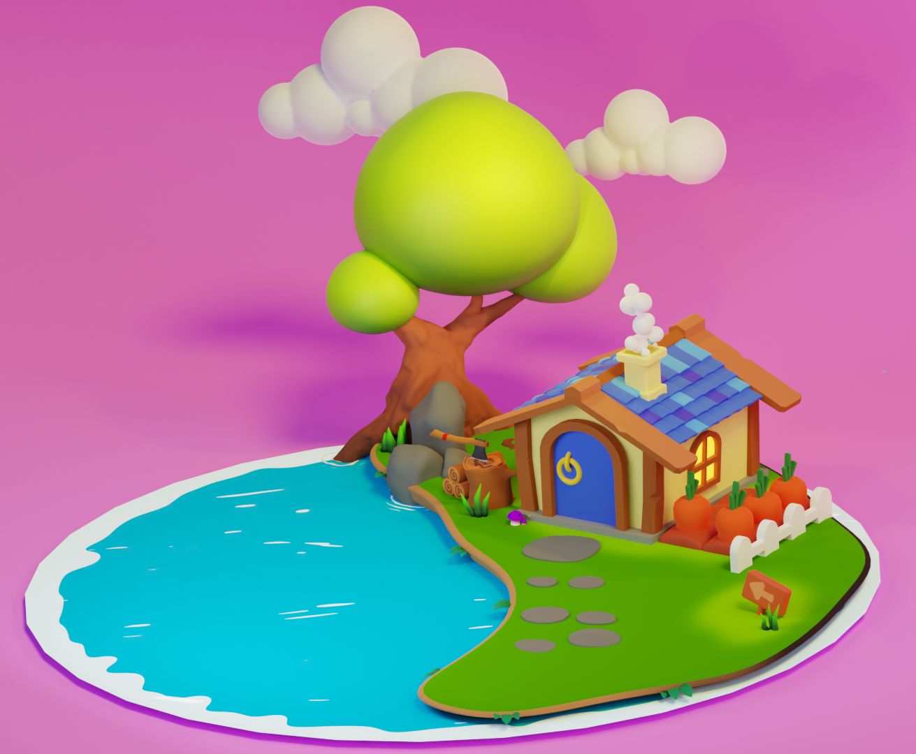 Low poly house preview image 1