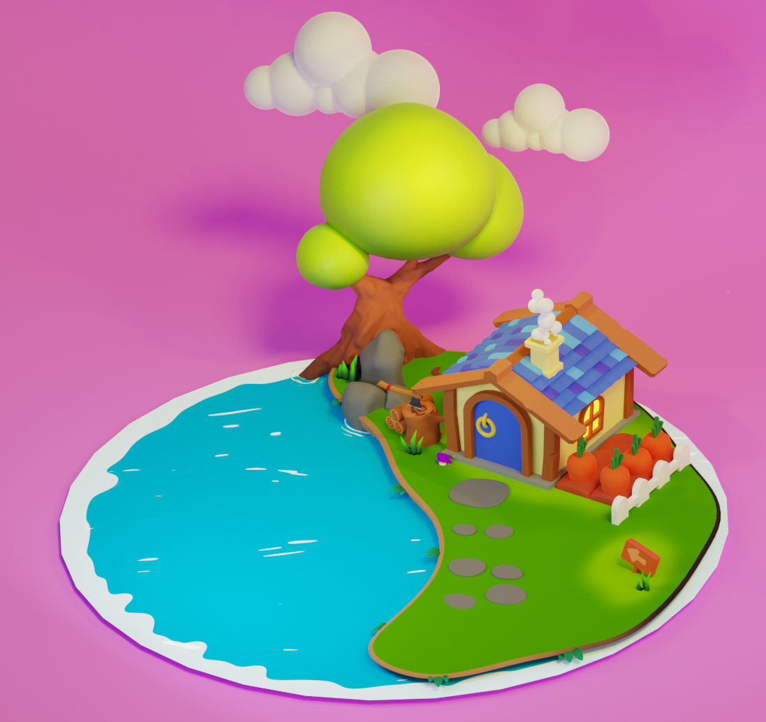 Low poly house preview image 2