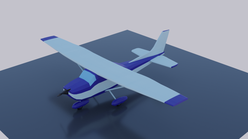 low poly cessna 172 skyhawk preview image