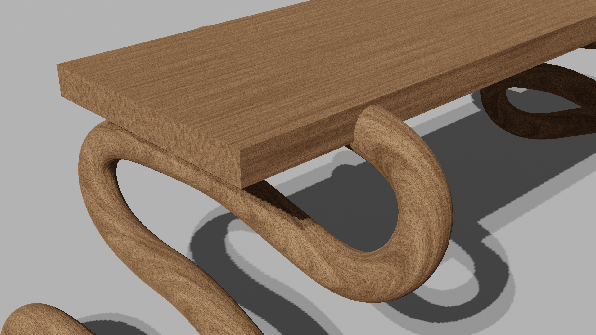 simple wood bench preview image 2