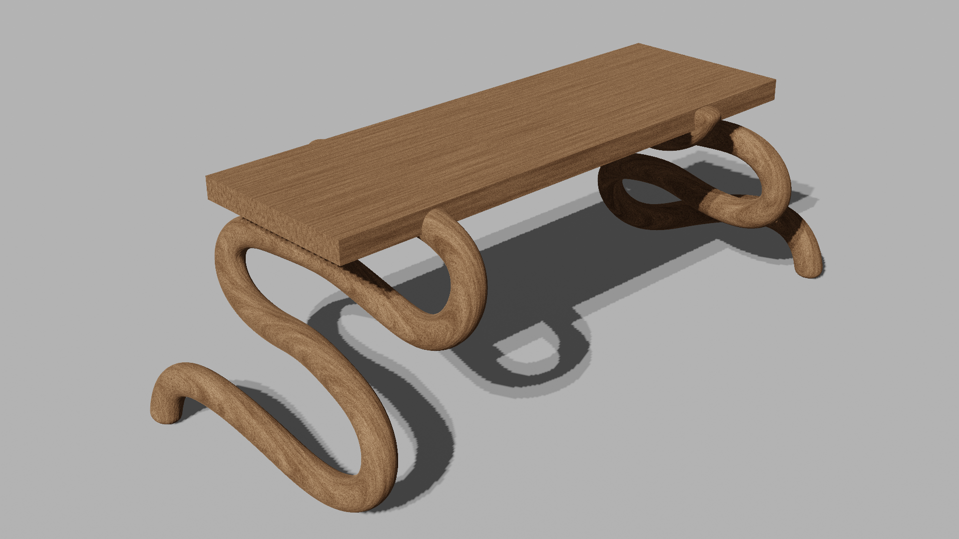 simple wood bench preview image 1
