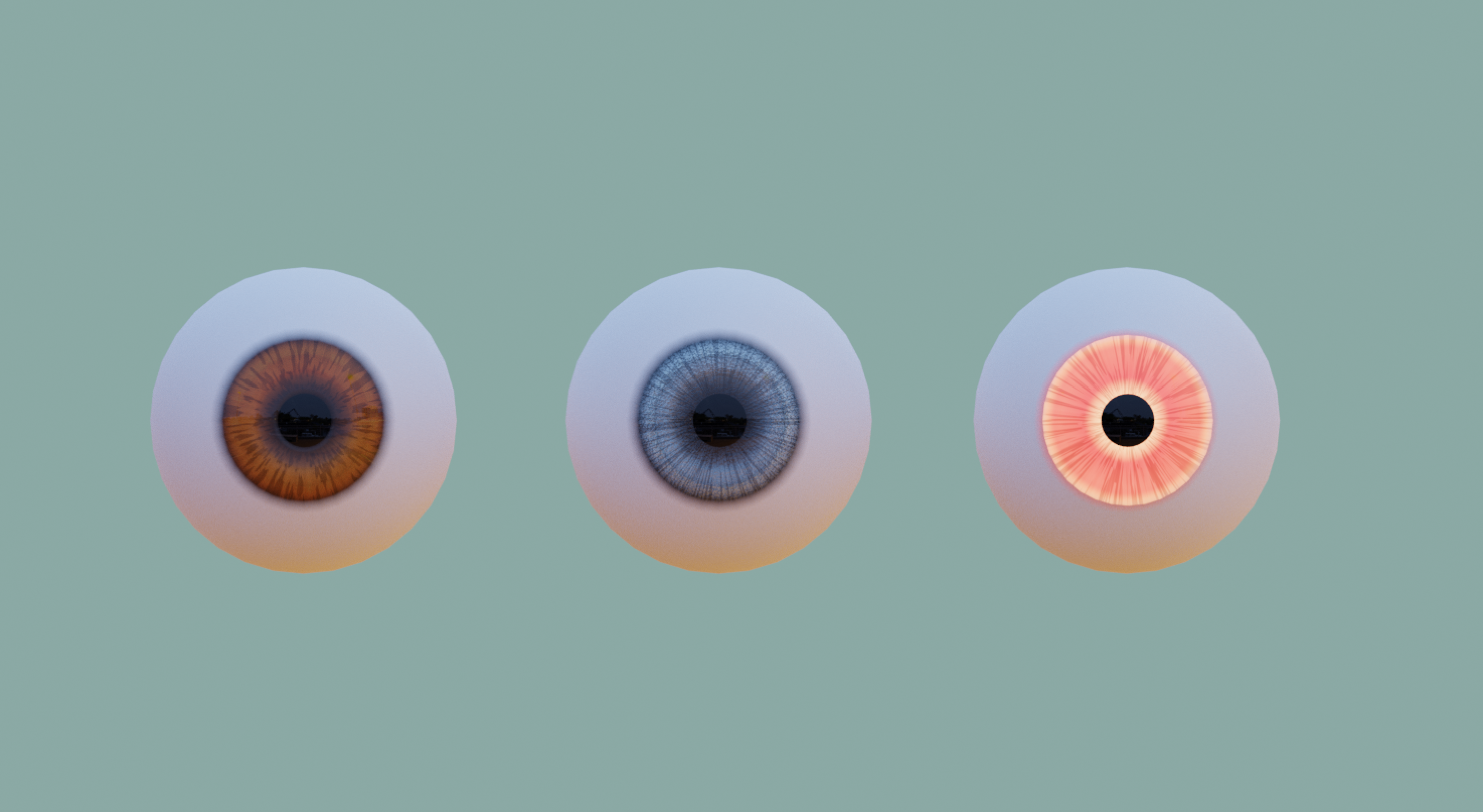 Cartoon // Real Eyes - Model and Materials preview image 1