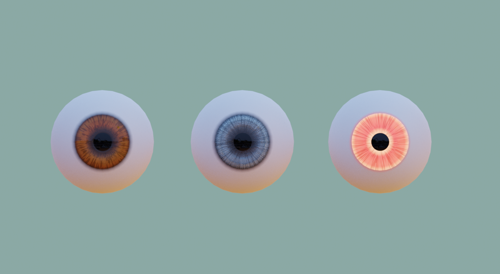 Cartoon // Real Eyes - Model and Materials preview image