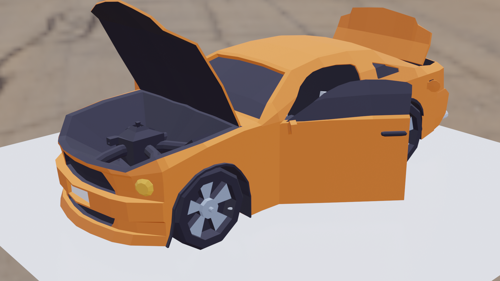 low poly car preview image