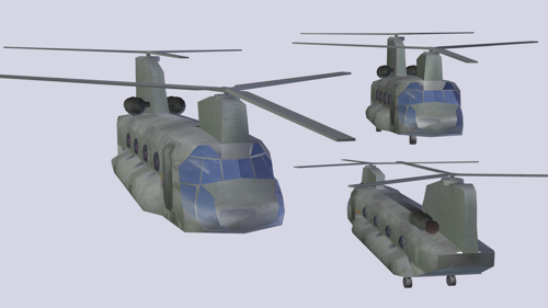 Helicopter LowPoly - Chinook CH47 preview image