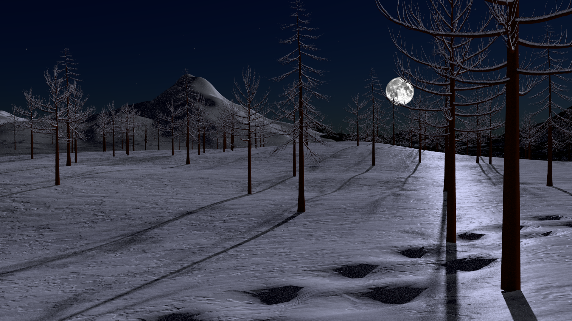 Snowy Night Scene preview image 1
