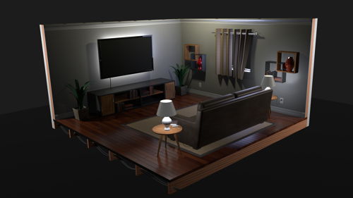 Living/TV Room Study preview image