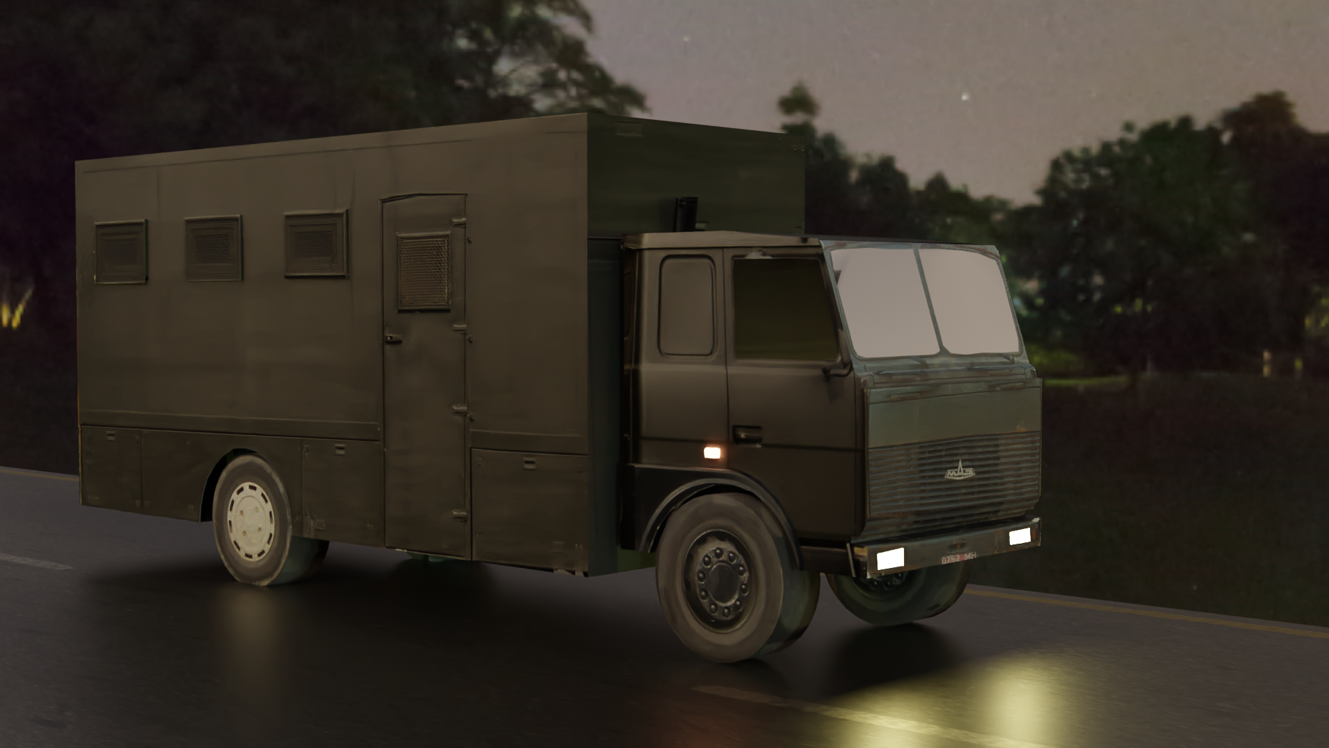 Autozak OMON Car Lowpoly Belarus preview image 1