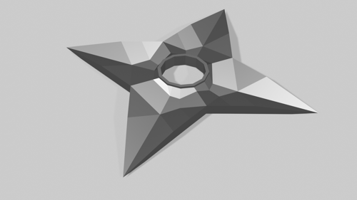 Low-poly Shuriken preview image