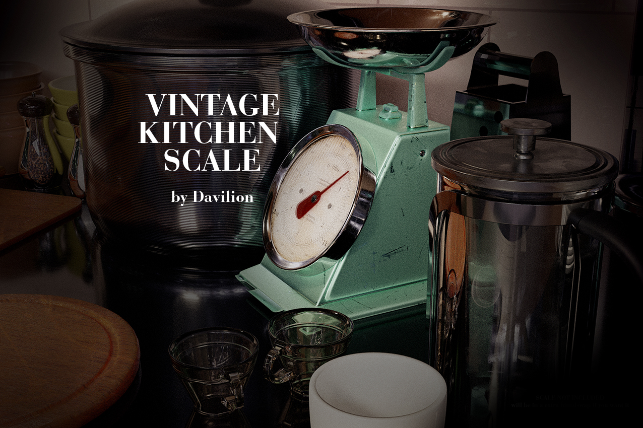 Old / Vintage Kitchen Scale (Scenefiller) by Davilion preview image 1