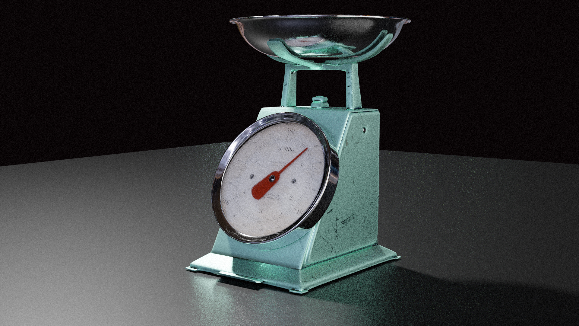 Old / Vintage Kitchen Scale (Scenefiller) by Davilion preview image 2