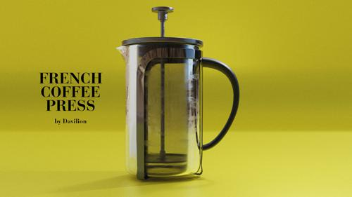 French Coffee Press - Kitchen Asset by Davilion preview image