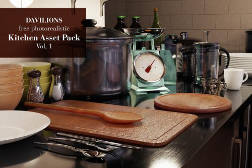 Kitchen Asset Library-Pack photoreal Vol.1 preview image