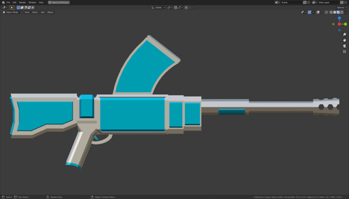 sci fi assault rifle preview image