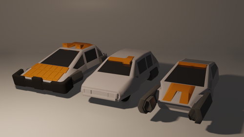 Sci-Fi Hovercar Asset Pack preview image