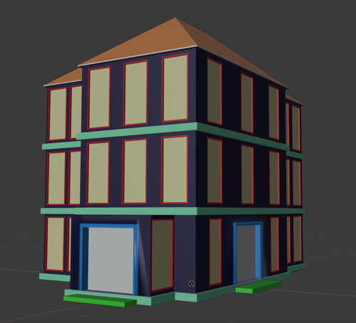 Low Poly Modern Building preview image
