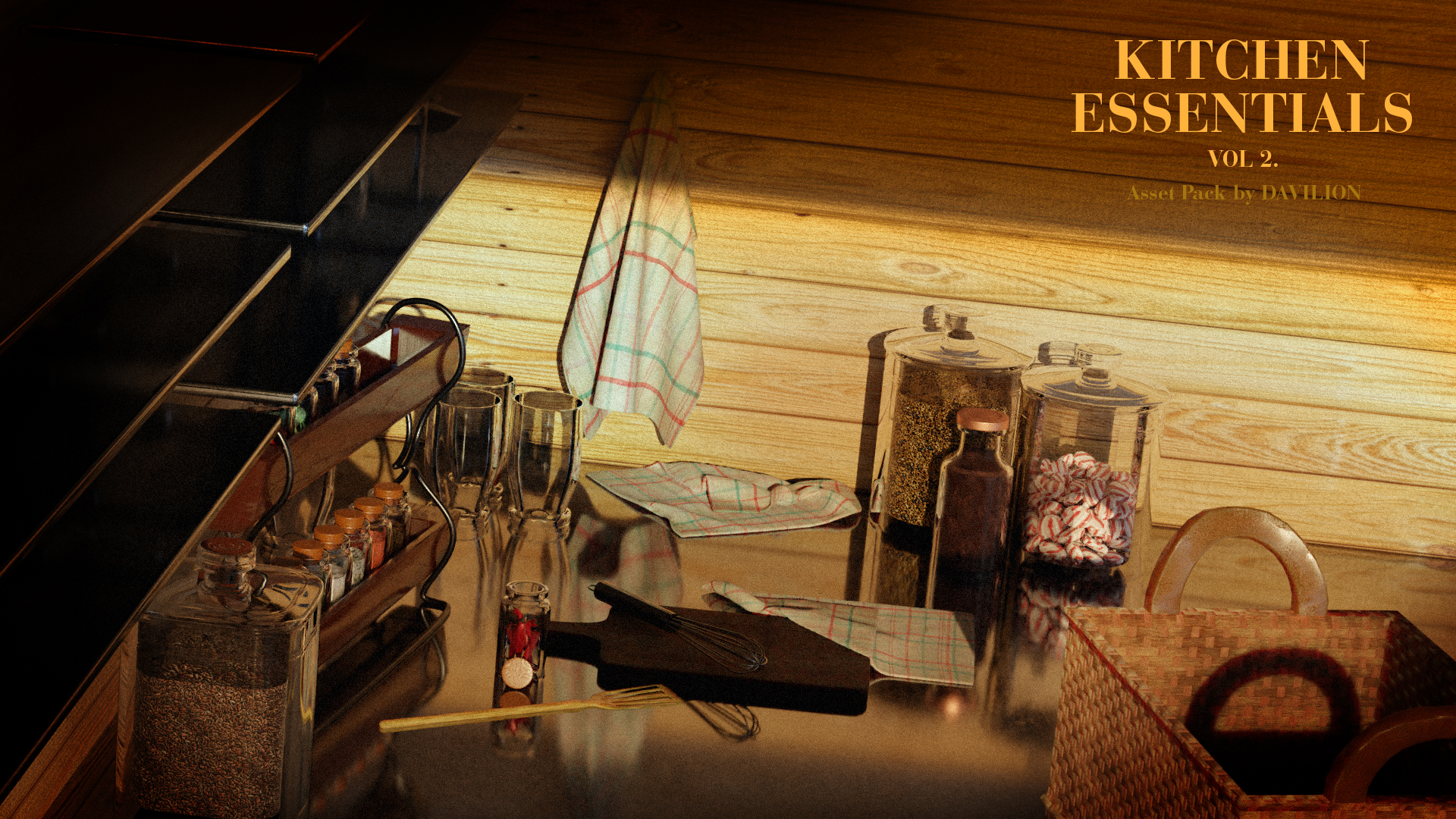 Vol2. Kitchen Essentials Asset Pack by Davilion preview image 2