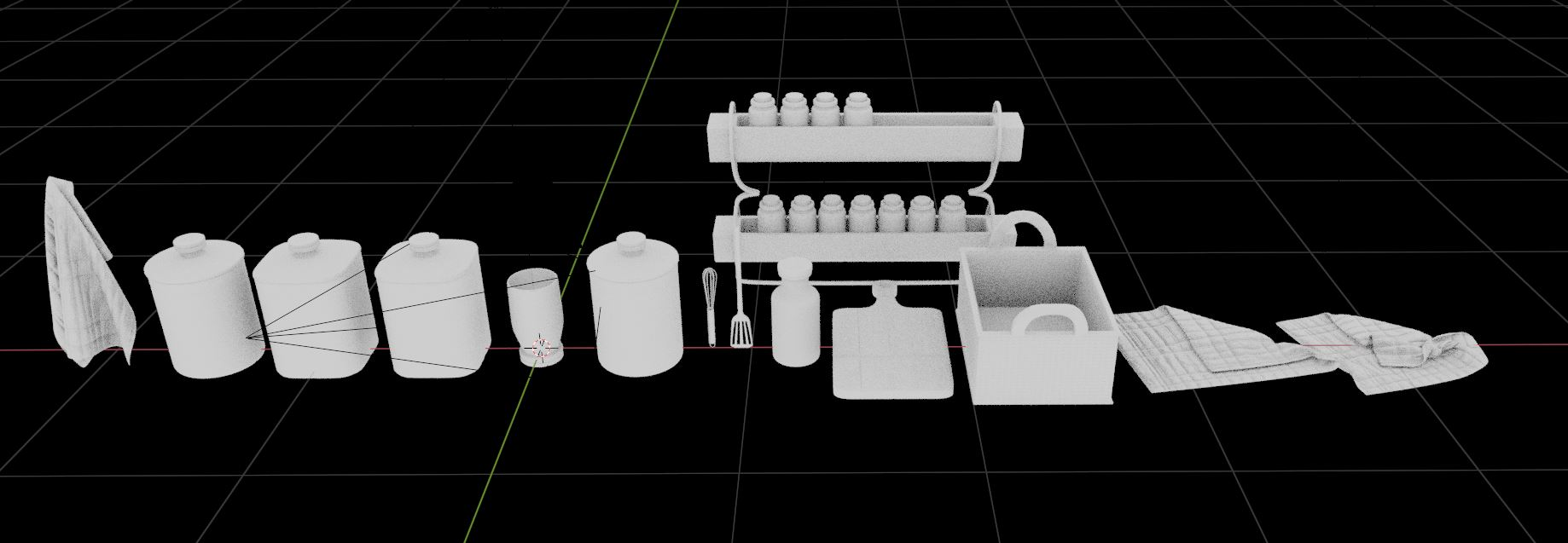 Vol2. Kitchen Essentials Asset Pack by Davilion preview image 4
