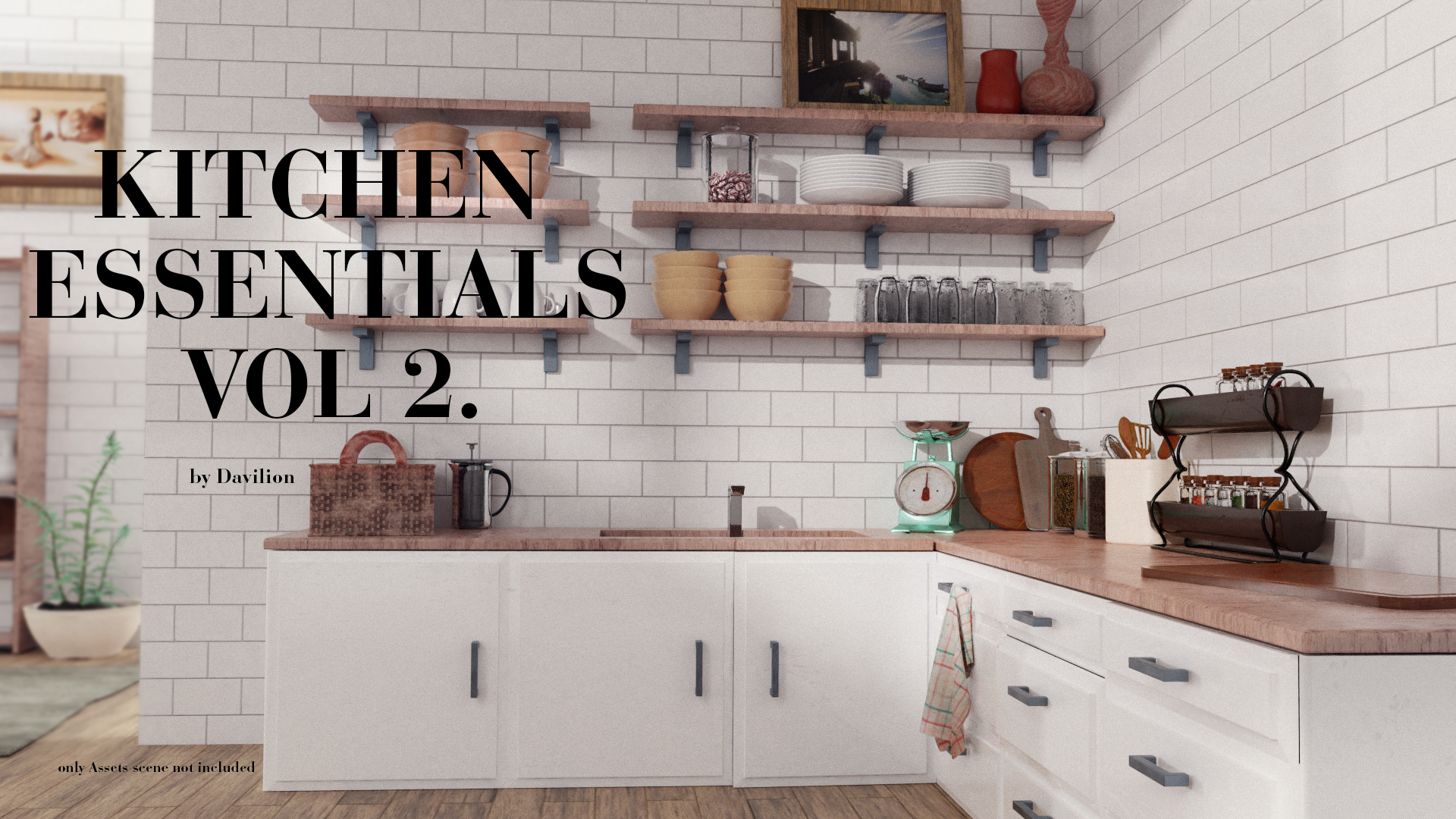 Vol2. Kitchen Essentials Asset Pack by Davilion preview image 1
