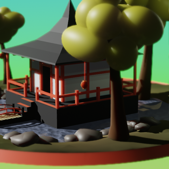 Eevee Lowpoly Pagoda preview image 2