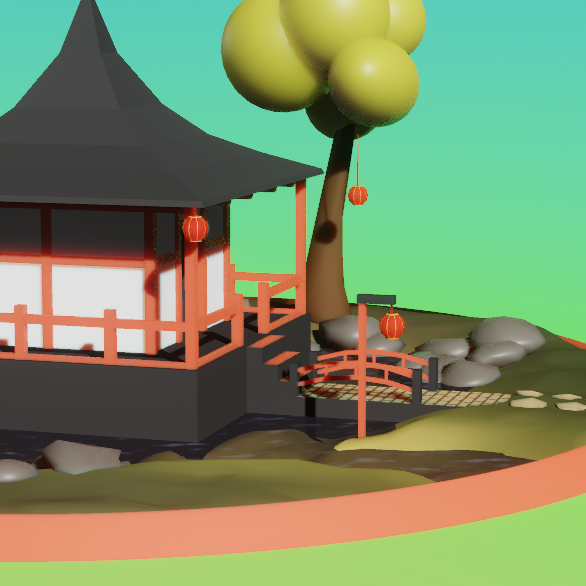Eevee Lowpoly Pagoda preview image 3