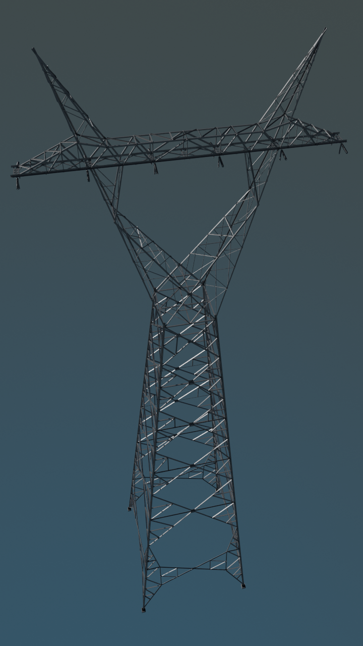 Corset power transmission tower preview image 1