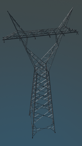 Corset power transmission tower preview image