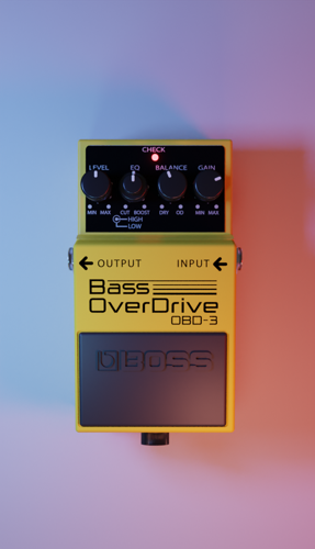 Boss Bass overdrive effects pedal (OBD-3) preview image