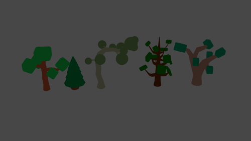 Low Poly Tree Assets/5 pack preview image