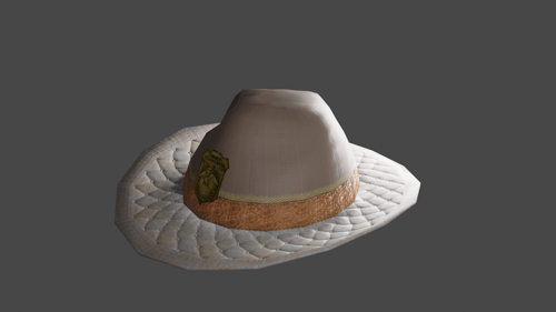 Cowboy Hat (with Park Ranger Badge) (LOW-POLY) preview image