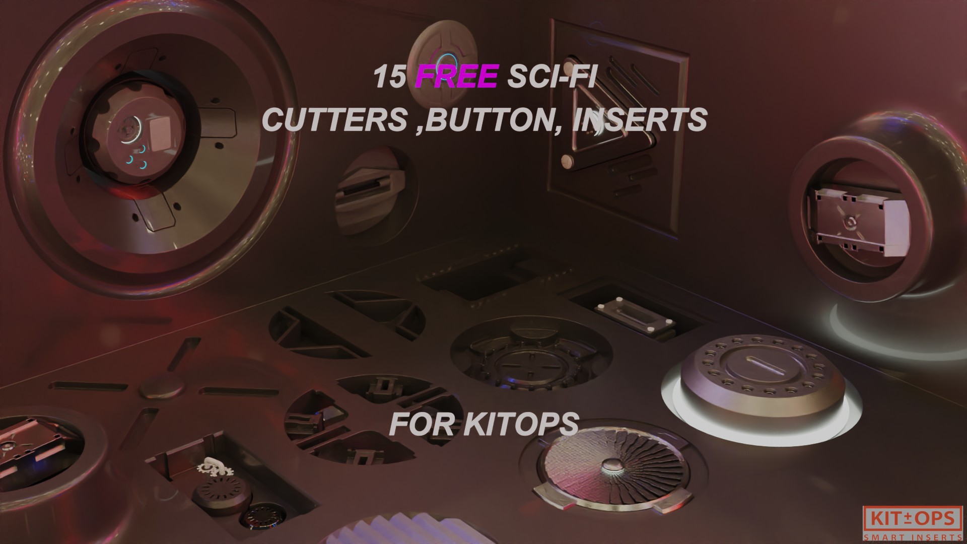 15 Free sci - fi cuttors , inserts and buttons pack kit-ops ready preview image 1