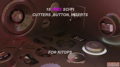 15 Free sci - fi cuttors , inserts and buttons pack kit-ops ready preview image
