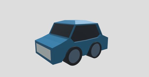 Low Poly Cartoony Car preview image