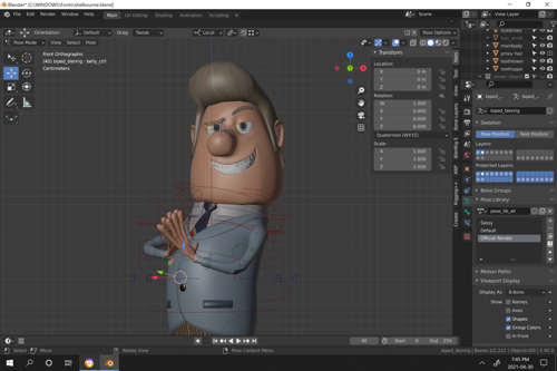 A model of mayor shelbourne with a non-functioning rig preview image