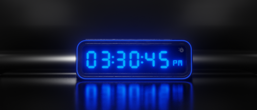 Digital Clock (shader controlled and animated) preview image