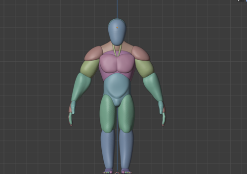 Stylized Male rough base mesh blocking preview image