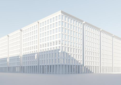 City Building Template with Colonnade preview image