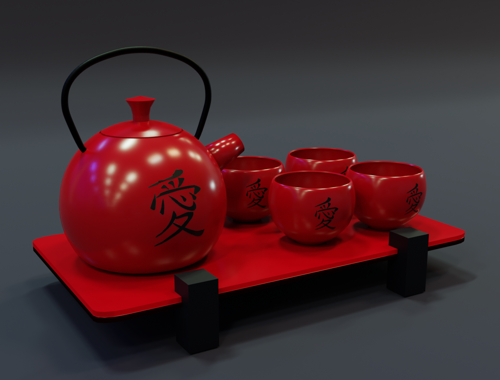 Japanese tea set preview image