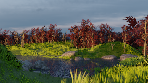Simple Valley Scene preview image