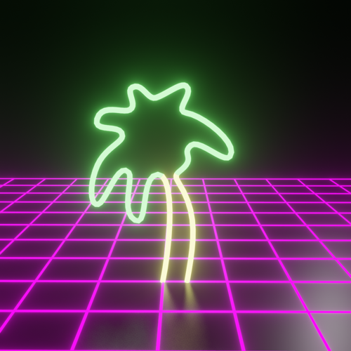 Retrowave Neon Palm 1 preview image