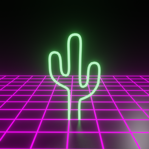 Retrowave Neon Cactus 1 preview image