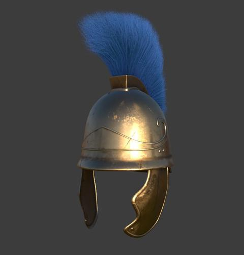 Ancient Greek Attic Helmet preview image