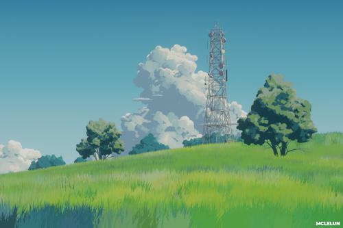ghibli style landscape preview image