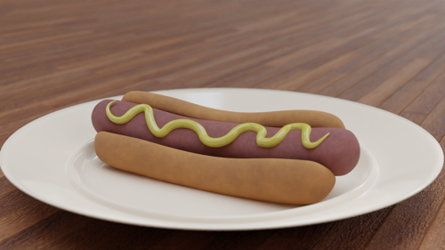 Procedurally Textured Hot Dog. preview image
