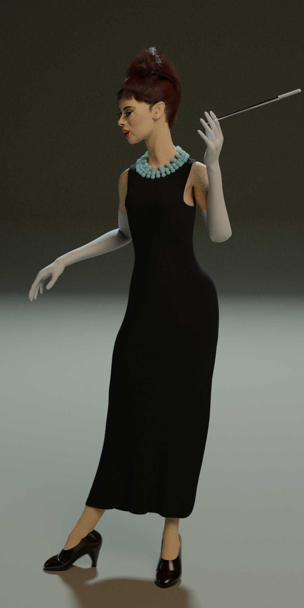 Female Character rigged preview image 2