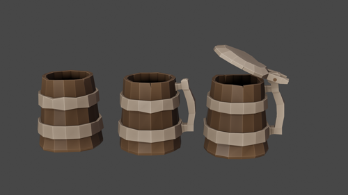 Medieval beer mugs preview image