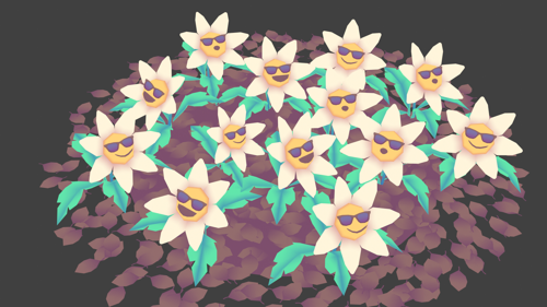 It's finally spring! Rigged Animated Flower preview image